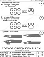 2003 GMC Yukon_Denali Dash Kit Shadow Sheet