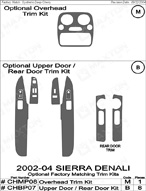 2004 GMC Sierra_Denali Dash Kit Shadow Sheet