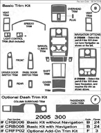 2005 Chrysler 300 Dash Kit Shadow Sheet