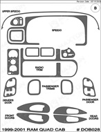 2001 Dodge Ram Dash Kit Shadow Sheet