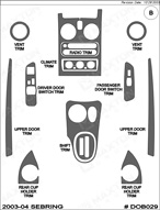 2004 Chrysler Sebring Dash Kit Shadow Sheet