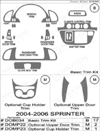 2005 Dodge Sprinter Dash Kit Shadow Sheet
