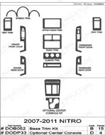 2008 Dodge Nitro Dash Kit Shadow Sheet