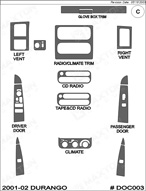 2003 Dodge Durango Dash Kit Shadow Sheet