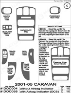 2001 Dodge Caravan Dash Kit Shadow Sheet