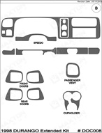 1997 Dodge Durango Dash Kit Shadow Sheet