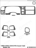 1999 Dodge Durango Dash Kit Shadow Sheet