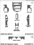 2003 Dodge Neon Dash Kit Shadow Sheet