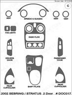 2002 Chrysler Sebring Dash Kit Shadow Sheet