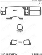 1998 Dodge Dakota Dash Kit Shadow Sheet