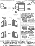 2006 Ford Expedition Dash Kit Shadow Sheet