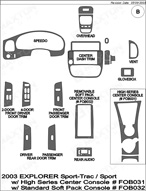 2003 Ford Explorer Dash Kit Shadow Sheet