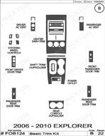 2006 Ford Explorer Dash Kit Shadow Sheet