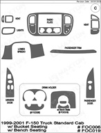 1999 Ford F-150 Dash Kit Shadow Sheet