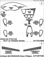 2002 Ford Focus Dash Kit Shadow Sheet