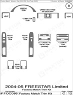 2006 Ford Freestar Dash Kit Shadow Sheet