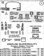 2006 Ford F-Series SuperDuty Dash Kit Shadow Sheet
