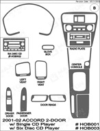 2001 Honda Accord Dash Kit Shadow Sheet