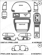 2001 Honda Prelude Dash Kit Shadow Sheet