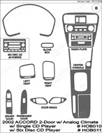 2002 Honda Accord Dash Kit Shadow Sheet
