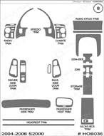 2006 Honda S2000 Dash Kit Shadow Sheet