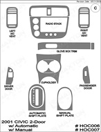 2001 Honda Civic Dash Kit Shadow Sheet