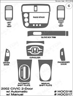 2002 Honda Civic Dash Kit Shadow Sheet