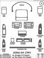 2004 Honda CRV Dash Kit Shadow Sheet