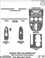 2008 Honda Element Dash Kit Shadow Sheet