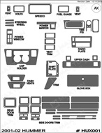 2001 Hummer H1 Dash Kit Shadow Sheet