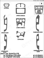 2002 Hyundai Santa Fe Dash Kit Shadow Sheet