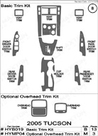 2006 Hyundai Tucson Dash Kit Shadow Sheet