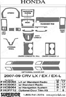 2007 Honda CRV Dash Kit Shadow Sheet