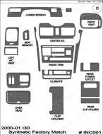 2000 Infiniti I30 Dash Kit Shadow Sheet