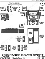 2006 Land Rover Range Rover_Sport Dash Kit Shadow Sheet
