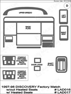 1997 Land Rover Discovery Dash Kit Shadow Sheet