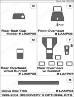 2002 Land Rover Discovery_II Dash Kit Shadow Sheet