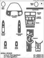 2004 Lexus IS300 Dash Kit Shadow Sheet