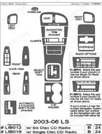 2004 Lincoln LS Dash Kit Shadow Sheet