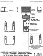 2003 Lincoln Aviator Dash Kit Shadow Sheet