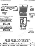 2005 Lincoln Navigator Dash Kit Shadow Sheet