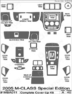 2005 Mercedes M-Class Dash Kit Shadow Sheet