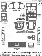 2004 Mercedes SLK Dash Kit Shadow Sheet