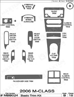 2007 Mercedes M-Class Dash Kit Shadow Sheet