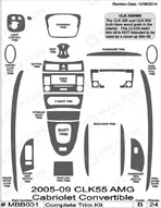 2007 Mercedes CLK Dash Kit Shadow Sheet