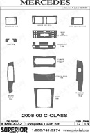 2010 Mercedes C-Class Dash Kit Shadow Sheet