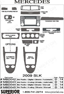 2010 Mercedes SLK Dash Kit Shadow Sheet