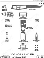 2004 Mitsubishi Lancer Dash Kit Shadow Sheet