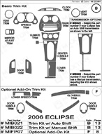 2006 Mitsubishi Eclipse Dash Kit Shadow Sheet