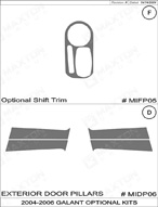 2004 Mitsubishi Galant Dash Kit Shadow Sheet